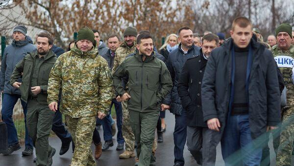 Wizyta robocza prezydenta Ukrainy od obwodu ługańskiego i mikołajowskiego - Sputnik Polska