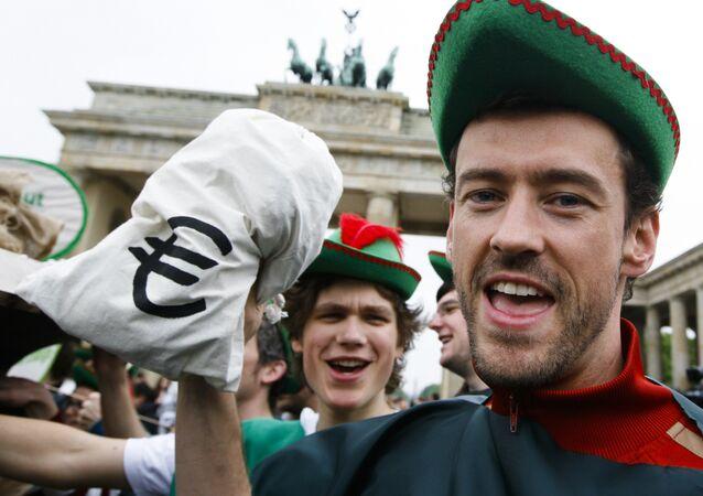 Akcja przeciwko polityce finansowej w Berlinie