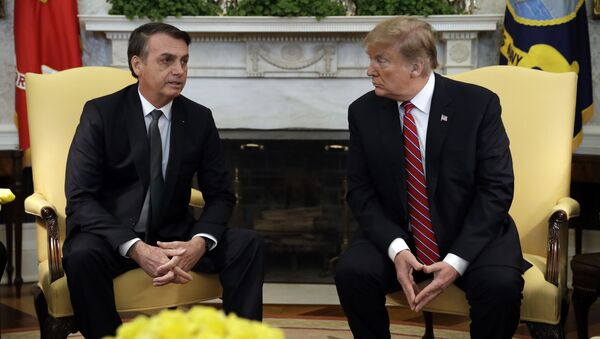 Prezydent Brazylii Jair Bolsonaro i prezydent USA Donald Trump - Sputnik Polska