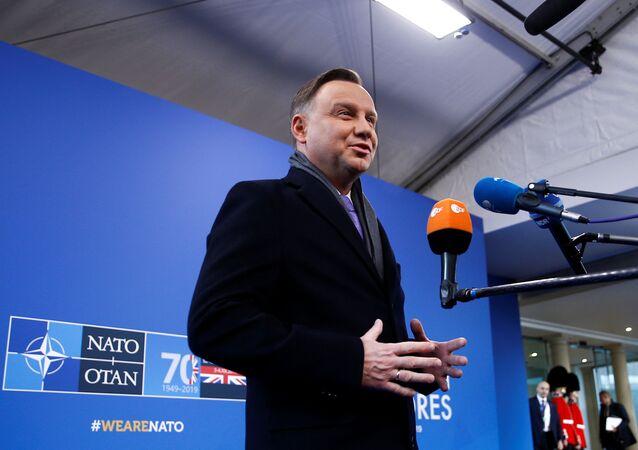 Andrzej Duda podczas szczytu NATO w Londynie