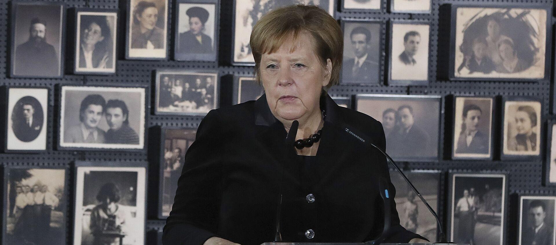 Angela Merkel po raz pierwszy odwiedziła obóz zagłady Auschwitz-Birkenau - Sputnik Polska, 1920, 22.01.2020