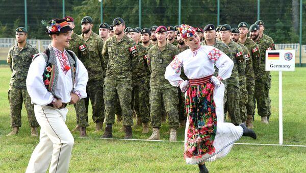 Manewry międzynarodowe Rapid Trident 2019 w obwodzie lwowskim - Sputnik Polska
