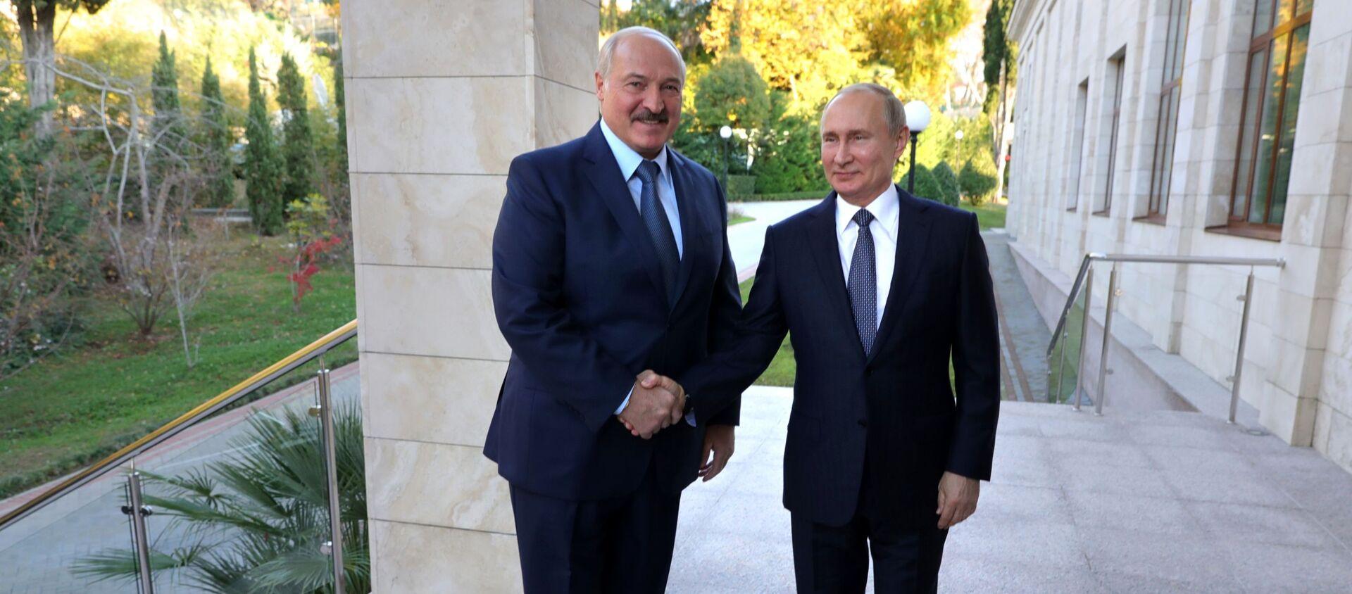 Putin i Łukaszenka w Soczi - Sputnik Polska, 1920, 28.05.2021