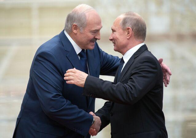 Alaksandr Łukaszenka i Władimir Putin
