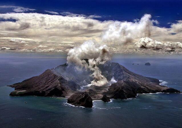 Erupcja wulkanu w Nowej Zelandii
