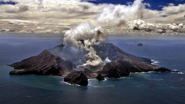 Erupcja wulkanu w Nowej Zelandii - Sputnik Polska