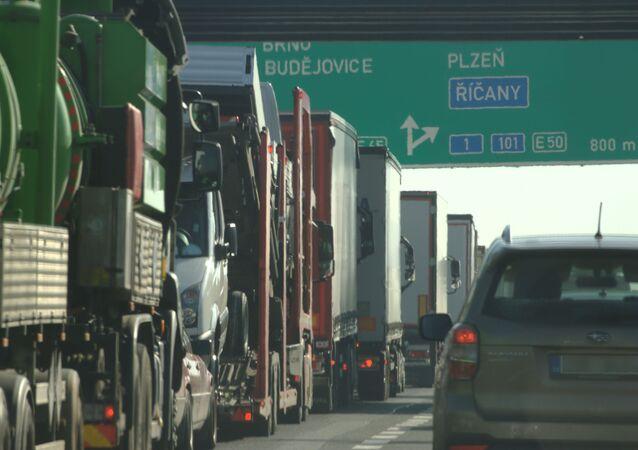 Ciężarówki na czeskiej granicy