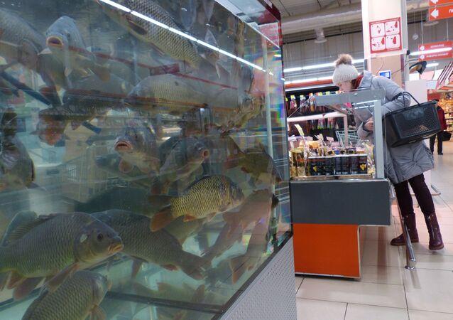 Supermarket Euroopt w Rogaczewie na Białorusi
