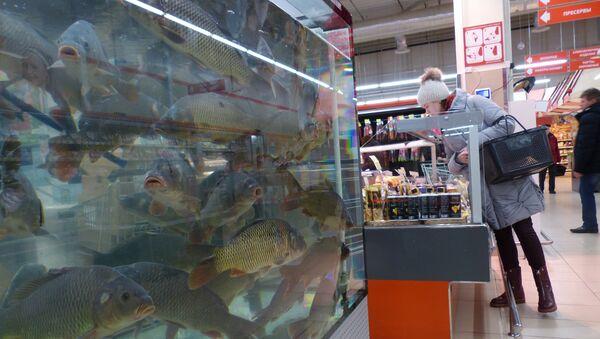 Supermarket Euroopt w Rogaczewie na Białorusi - Sputnik Polska