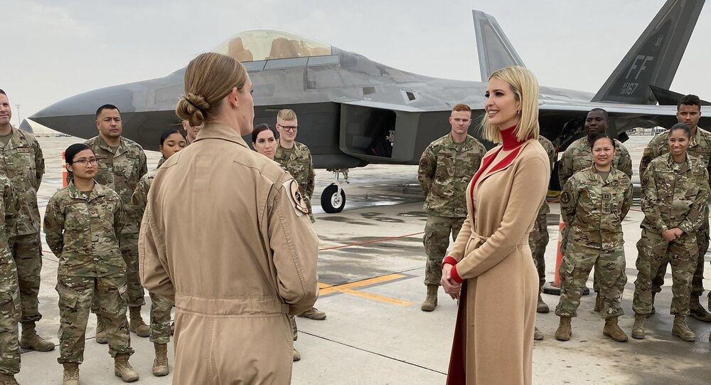 Ivanka Trump w bazie wojskowej USA w Katarze