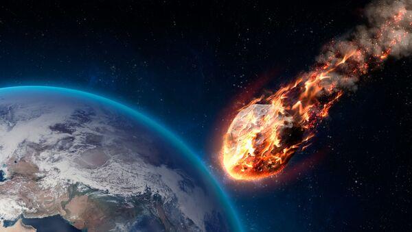 Meteor wchodzący w atmosferę Ziemi - Sputnik Polska