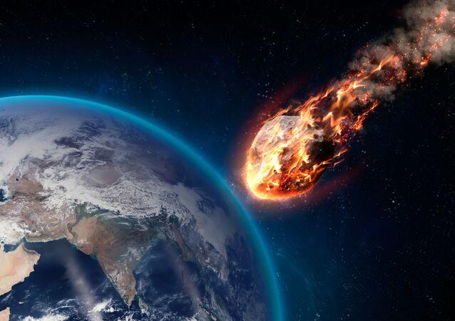 Meteor wchodzący w atmosferę Ziemi