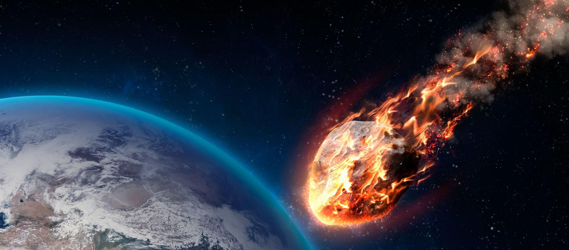 Meteor wchodzący w atmosferę Ziemi - Sputnik Polska, 1920, 22.02.2021