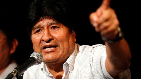 Były prezydent Boliwii Evo Morales na konferencji prasowej w Buenos Aires - Sputnik Polska