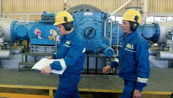 Pracownicy w punkcie dystrybucji gazu spółki PGNiG w Polsce - Sputnik Polska