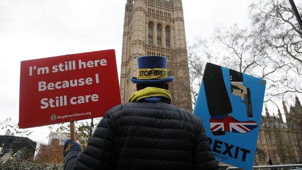 Przeciwnik Brexitu w Londynie - Sputnik Polska