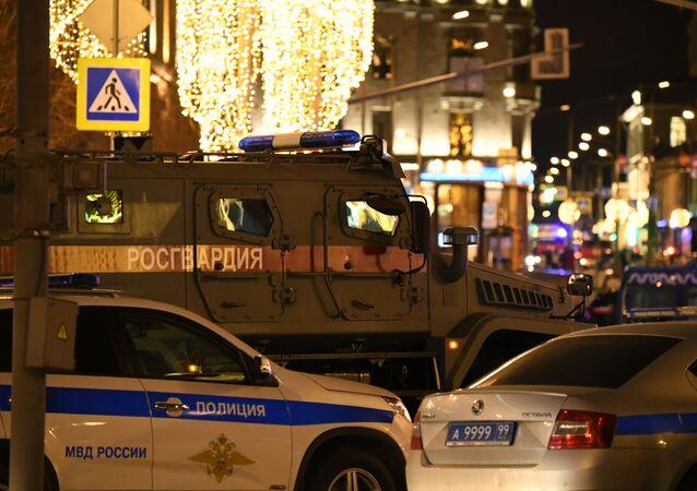 Zdjęcie z miejsca strzelaniny pod gmachem FSB w Moskwie