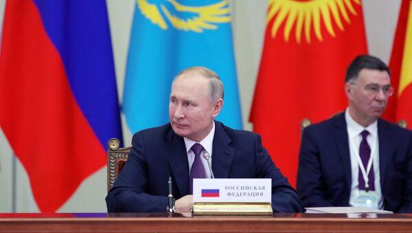 Władimir Putin na posiedzeniu Najwyższej Eurazjatyckiej Rady Gospodarczej - Sputnik Polska
