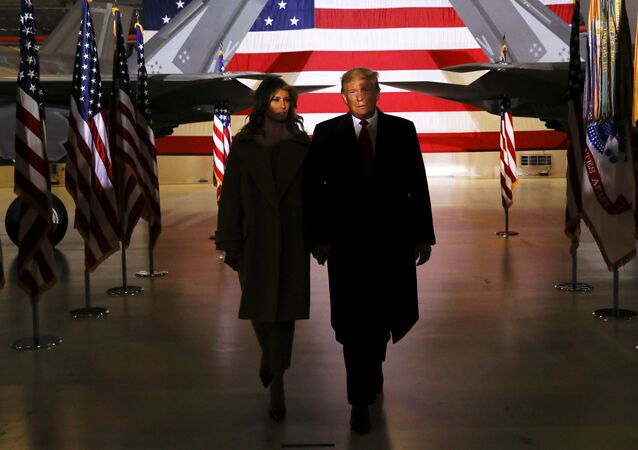 Prezydent USA Donald Trump z żoną Melanią