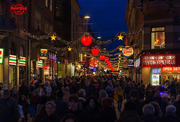 Dekoracje świąteczne w Kopenhadze - Sputnik Polska