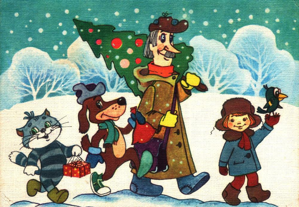 """Radziecki film animowany """"Zima w Prostokwaszynie"""" , 1984 rok"""