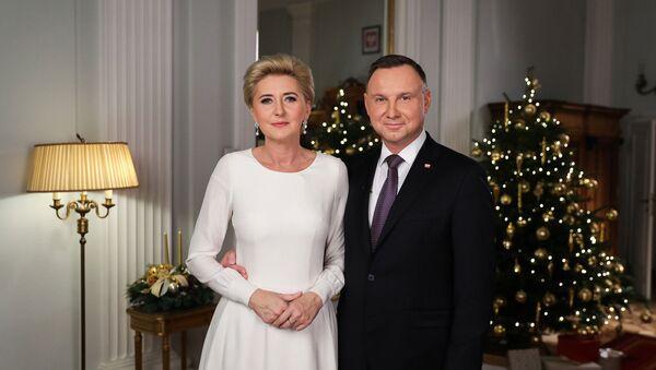 Andrzej Duda z małżonką - Sputnik Polska