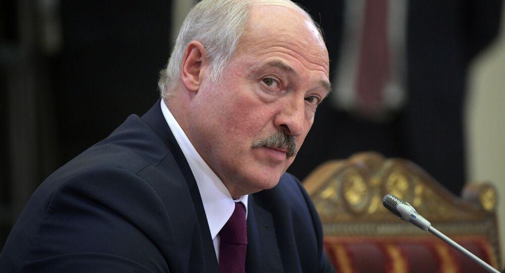 Prezydent Białorusi Aleksandr Łukaszenka na nieformalnym spotkaniu liderów WNP