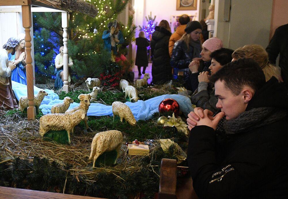 Msza święta w Mińsku, Białoruś