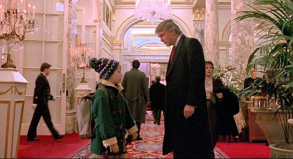 Donald Trump w filmie Kevin sam w Nowym Jorku.