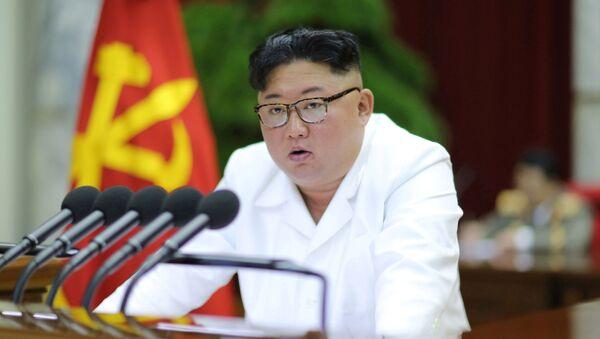 Północnokoreański przywódca Kim Dzong Un - Sputnik Polska