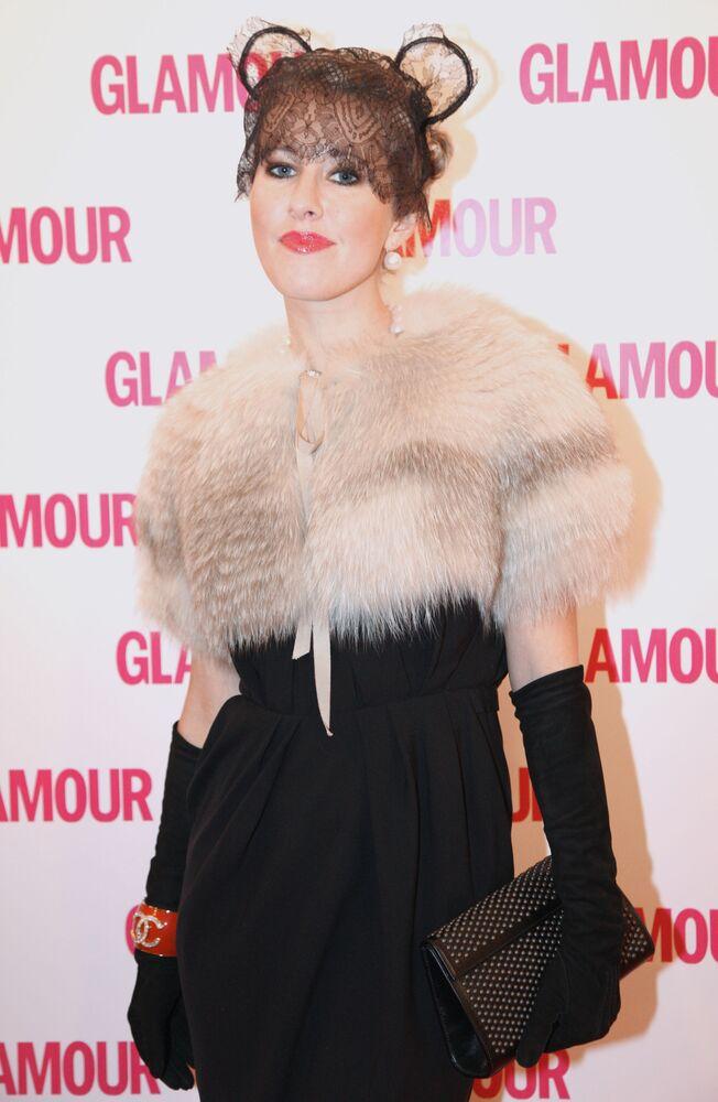 """Prezenterka telewizyjna Ksenia Sobczak podczas ceremonii wręczenia nagród """"Kobieta Roku Glamour 2009"""""""