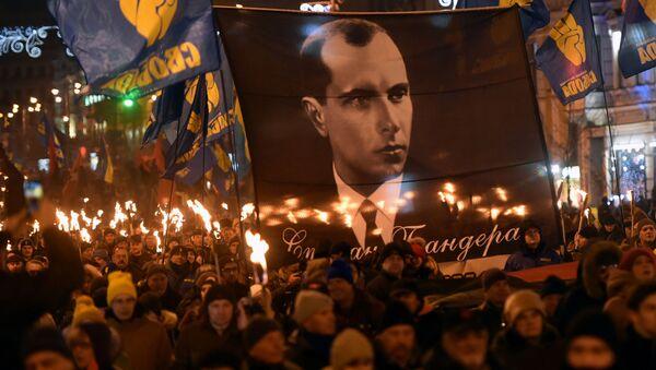 Marsz ulicami Kijowa z okazji 111. rocznicy narodzin Stepana Bandery  - Sputnik Polska