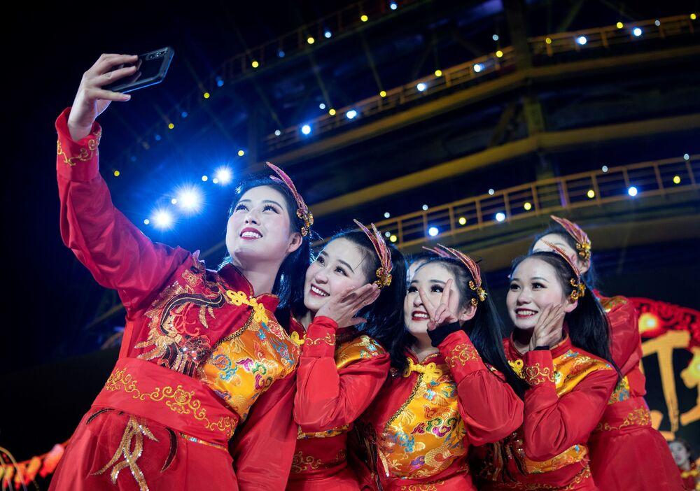 Artyści w noworoczną noc w Pekinie