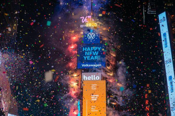 Obchody Nowego Roku na Times Square w Nowym Jorku - Sputnik Polska