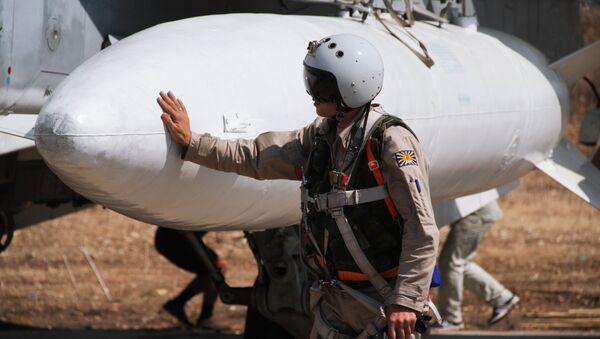 Rosyjscy wojskowi na bazie Hmeimim w Syrii - Sputnik Polska