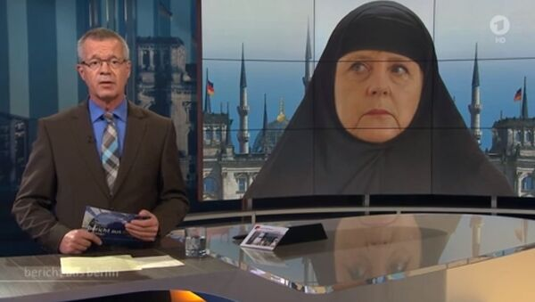 Merkel wearing a veil - Sputnik Polska