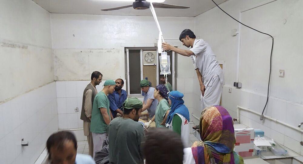 Szpital w Kunduzie po nalotach, 3 października 2015, Afganistan