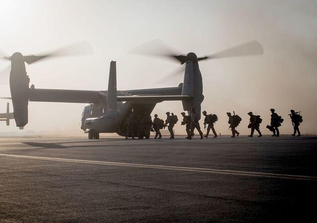 Wojskowi 7. Pułku Piechoty Morskiej USA w Syrii
