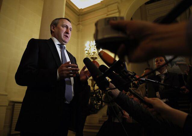 Ambasador Ukrainy w Polsce Andrij Deszczycia