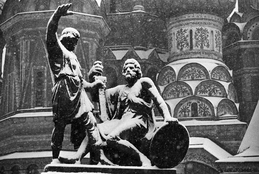 Pomnik Minina i Pożarskiego na Placu Czerwonym