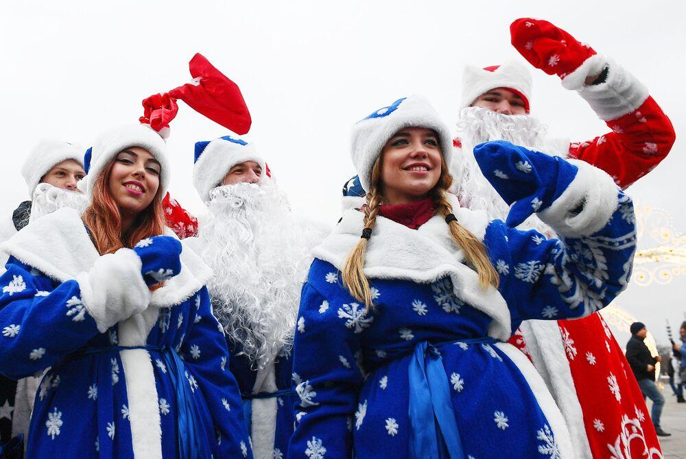 Obchody sylwestra w Moskwie