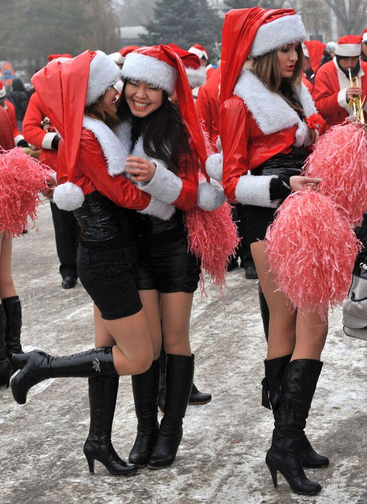 Noworoczna parada w Biszkeku