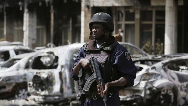 Policjant w Burkina Faso. Zdjęcie archiwalne - Sputnik Polska