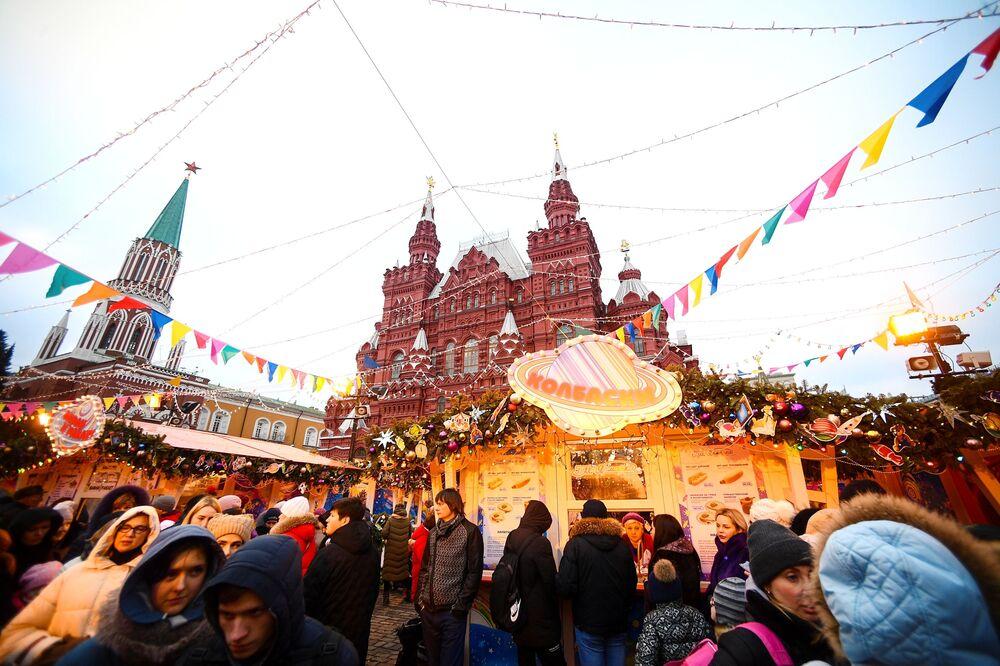 Jarmark na Placu Czerwonym w Moskwie