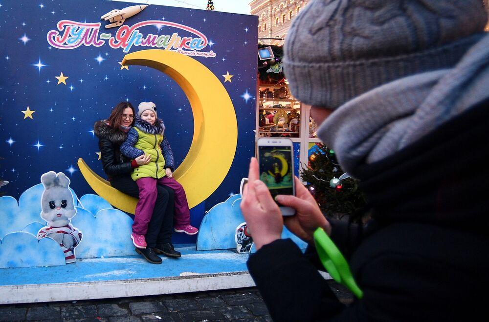 Noworoczne dekoracje na Placu Czerwonym