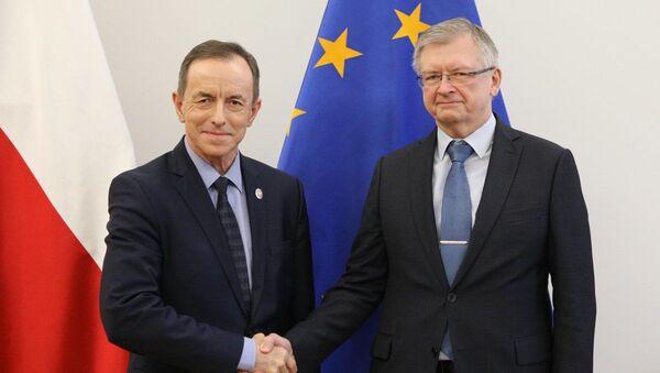 Marszałek Senatu Tomasz Grodzki i ambasador Rosji w Warszawie Siergiej Andriejew  - Sputnik Polska