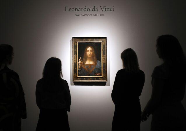 Obraz Leonarda da Vinci Zbawca Świata