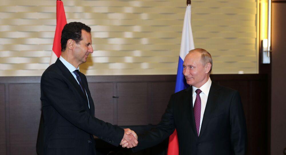 Władimir Putin i Baszar Asad