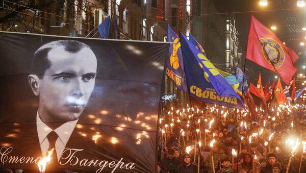 Pochód z okazji 111. rocznicy urodzin Stepana Bandery w Kijowie - Sputnik Polska
