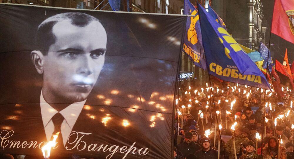 Pochód z okazji 111. rocznicy urodzin Stepana Bandery w Kijowie